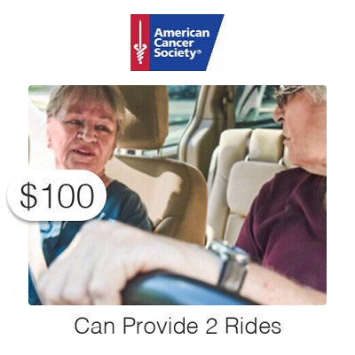 $100 Charitable Donation For: Provides Two (2) Rides