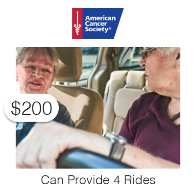 $200 Charitable Donation For: Provide (4) Rides