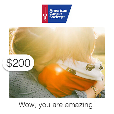 $200 Charitable Donation For: Wow, you are amazing!