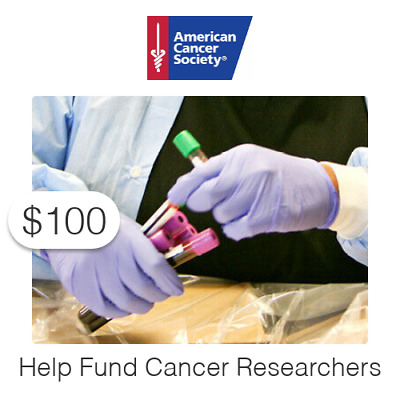 $100 Charitable Donation For: Help Fund Cancer Researchers