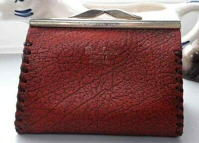 Vintage Leather Purse Wallet Brown Leather Made in England Coin Purse Preloved