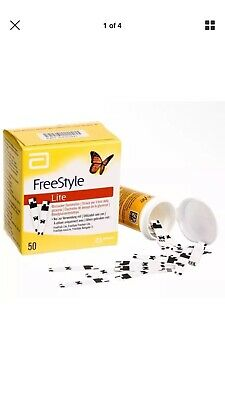 50 Freestyle lite Test Strips Blood Glucose Diabetes Long Expiry Date 09/2020