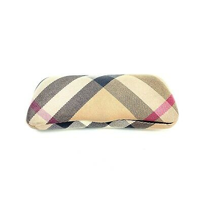 Burberry Eyeglass Clamshell Glasses Case Made In Italy Unisex