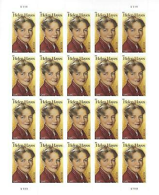 Helen Hayes USPS Forever Stamp Sheet 20 Stamps 2011 Airport Anastasia Film Star