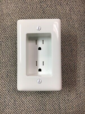 Leviton Recessed Duplex Power Outlet Electrical Receptacle 15 Amp 1-Gang White