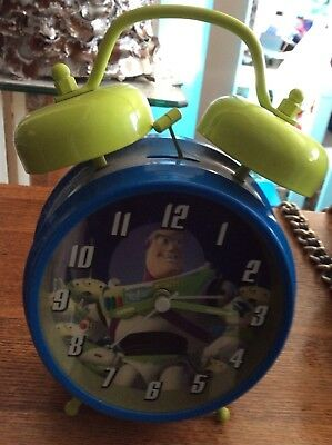 Like New  Toy Story - Buzz TWIN BELL ALARM CLOCK