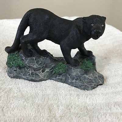 Living Stone Black Panther Resin 4 Inches Tall