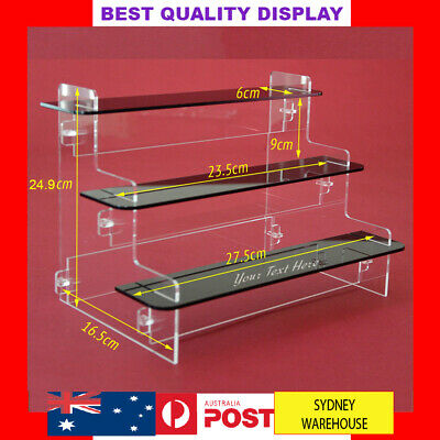 3 H Tier shelve Acrylic Perspex display Stand case box for figure Cosmetic Funko