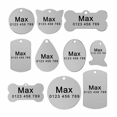 Dog Tags Personalized Custom Engraved Pet Small Medium Large Puppy Cat Pet Name