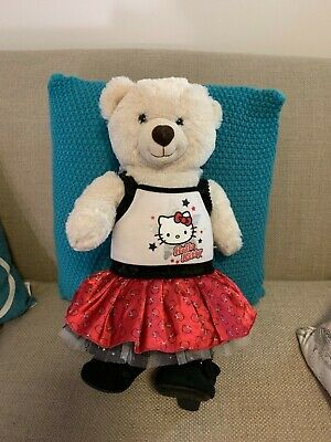Build a bear teddy dressed in Hello Kitty outfit & black heels