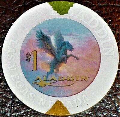 Old $1 ALADDIN Hotel Casino Poker Chip Vintage House Mold Las Vegas NV 2000