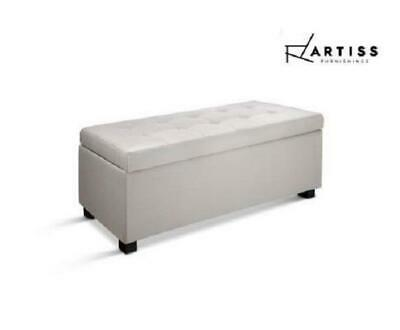 Artiss Storage Ottoman Blanket Box Large Seat Fabric Foot Stool Chest Toy Bed