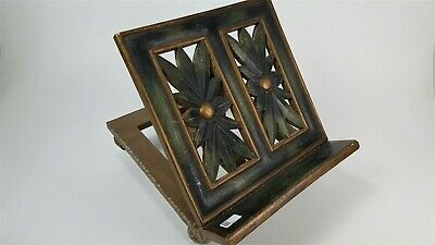 Vintage carved wood Bible / cookbook stand