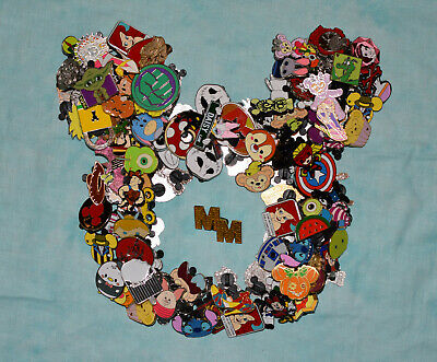 Disney Pin Trading 50 Assorted Pin Lot -  No Doubles – Tradable