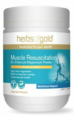 Muscle Resuscitation Bio-Enhanced Magnesium Powder 150g Herbs of Gold