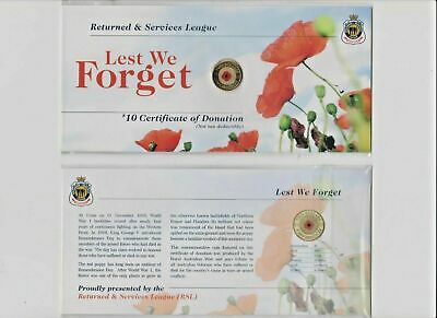 2012 Red Poppy UNC $2 Australia Coin on RSL Card as issued.