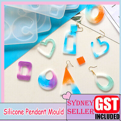 Silicone Earring Pendant Mold Necklace Jewelry Resin Epoxy Mould Casting Craft A