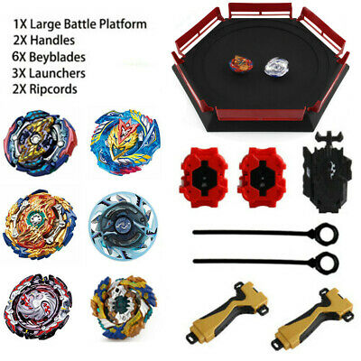 6PC Beyblade Burst Evolution Arena Launcher Battle Platform Stadium Toy Kid Gift