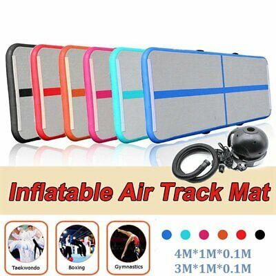 Inflatable Gymnastics mat Air Track Floor Home Tumbling Gym Mat With Pump 3M/4M