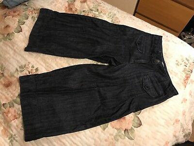 vertbaudet girl 3/4 length trousers jeans shorts size 6 years