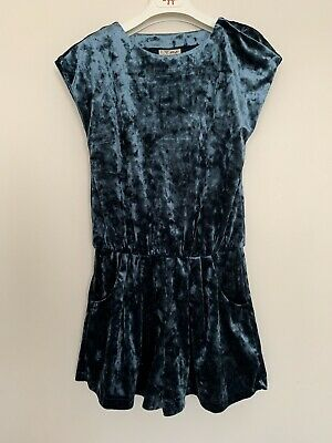 Girls NEXT Age 8 Years Playsuit Blue Velvet Party Outfit