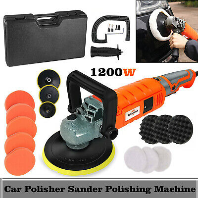 1200W Electric Car Polisher Variable Speed Buffer Polishing Machine Sander Kit