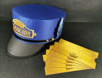 The Polar Express Conductors Hat for Adult or Youth / Child with 5 x Tickets NEW