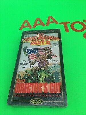 VHS The Toxic Avenger 2 Horror Comedy Troma Directors Cut Edition SEALED NEW