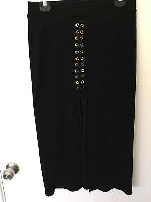 *Miss Valley* Stylish Black Skirt*Size L*As New