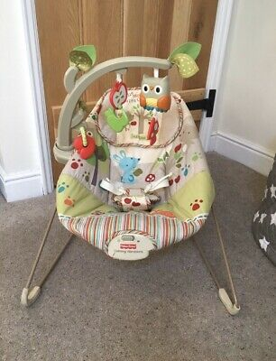 FISHER PRICE Woodsy Friends Woodland Baby Musical Bouncer Newborn 0 - 6 Months