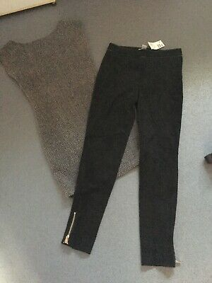 H&M Trousers (New With Tags) And Zara Dress In Size Xs/8