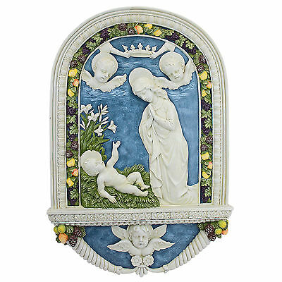 Classic Renaissance Adoration Of The Christ Child By Della Robbia Wall Sculpture