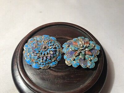 Two Beautiful 19th Century Antique Chinese Brooches