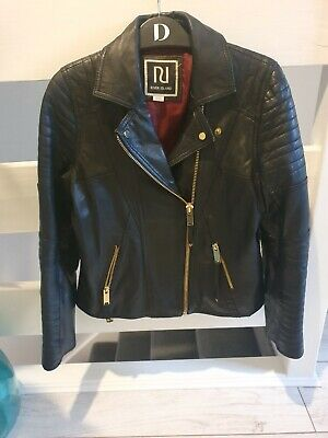 River island girls real leather biker jacket age 12 years