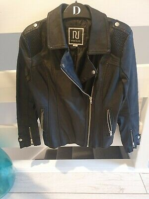 River island girls faux leather biker jacket age 12 years