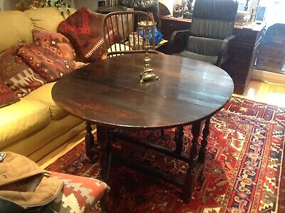 17th Century Oak Gateleg Table