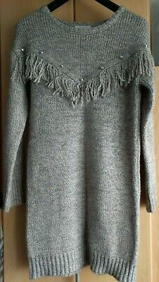 Primark Girls Beige Knitted Thick Long Jumper Dress Age 12-13 Years