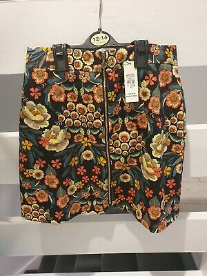 Floral patterned girls skirt from river island age 12 years bnwt