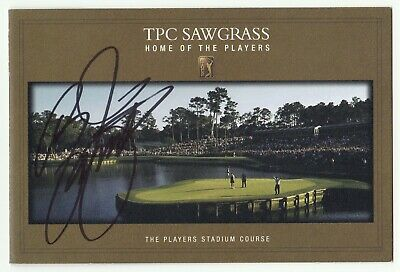 RICKIE FOWLER Signed Autographed TPC Sawgrass Scorecard, 2015 The Players Champ