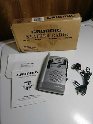 Grundig G-2 weather radio works perfectly and new batteries!