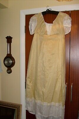 Gowns and Glory Historical Clothing regency ballgown pale yellow/cream