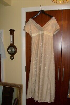 Gowns and Glory Historical Clothing Regency ballgown pale yellow