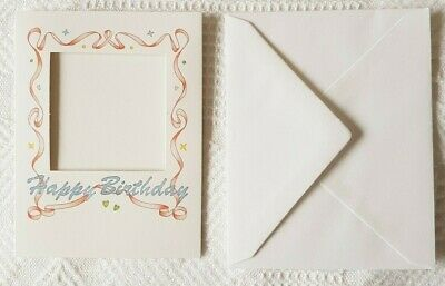 Illustrated Card & Envelope ~ Aperture for Craft Insert ~ Happy Birthday