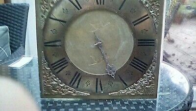 longcase grandfather clock single hand dial and movement.