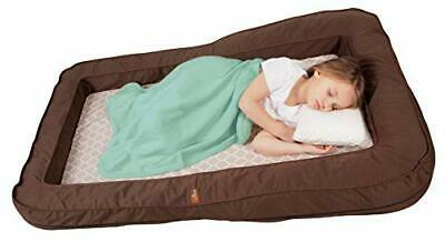 Leachco BumpZZZ Travel Bed, Brown with Moroccan Sand Sheet (Moroccan Sand)