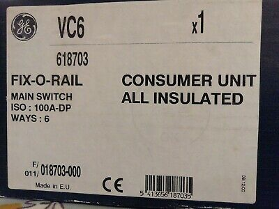 GE Consumer unit all insulated