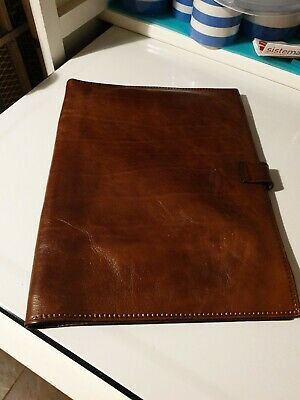 vintage leather a4 size Document Wallet