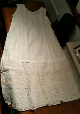 Two Antique Edwardian Lace Petticoats With A History (see pics and description)