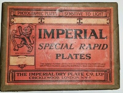 Antique Rare Vtg Imperial Special Rapid Photographic camera Plates Sealed Pack