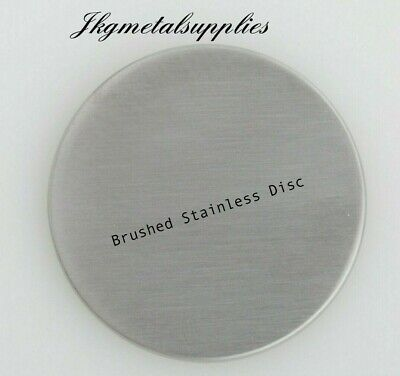 0.9mm thick -  BRUSHED STAINLESS STEEL DISCS -  grade 430 - many diameters